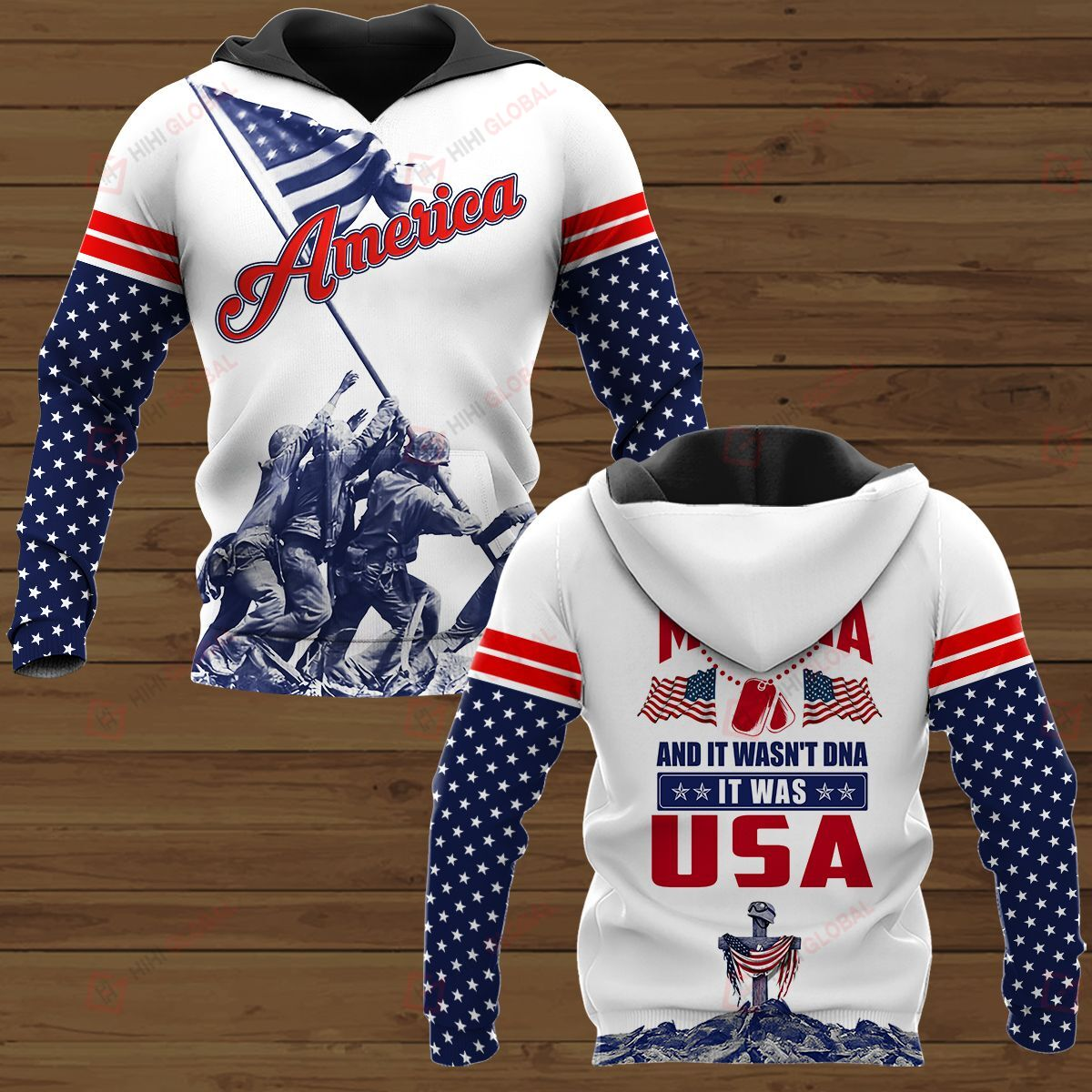 Personalized 3D Shirt They tested my DNA It was USA American Soldier