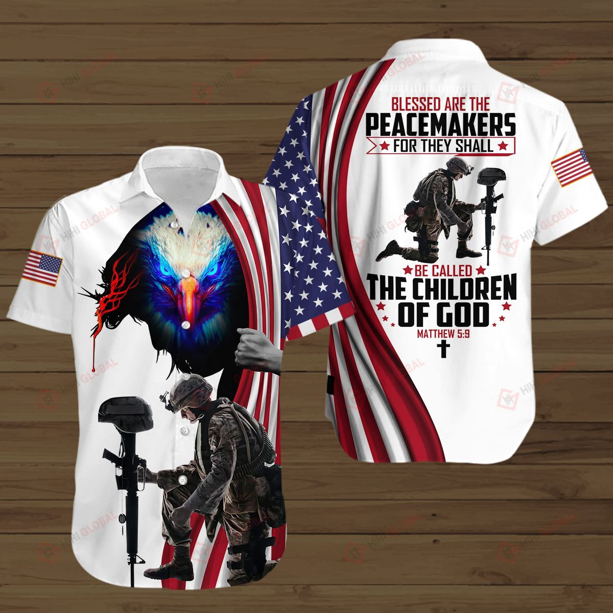 Blessed Are The Peacemakers The Children Of God American All Over Printed 3D Shirts