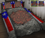 Puerto Rico Sol Taino Metal Quilt Bed Set & Quilt Blanket MHE21042101-MHQ21042101
