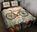 Road Bike Flowers Quilt Bed Set & Quilt Blanket BIE21042403-BIQ21042403