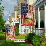 Home is where the herd is-Pig Personalized Flag HOF21051401