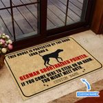 This house is protected by German Shorthaired Pointer Personalized Doormat BIJ21051304
