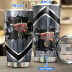 Red tractor Personalized Stainless Steel Tumbler TRU21052102