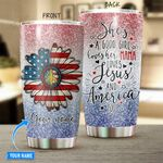 Hippie She Is Good Girl Personalized Stainless Steel Tumbler BIU21052401