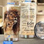 Lion-Son to Dad Personalized Stainless Steel Tumbler LIU21052401
