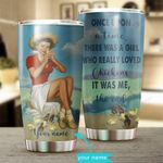 Girl Loves Chickens Personalized Stainless Steel Tumbler BIU21052403