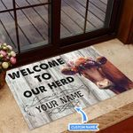 Welcome to our herd Personalized Doormat TRJ21052802