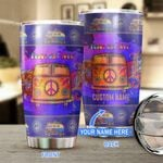 Hippie van-Peace and love Personalized Stainless Steel Tumbler TRU21052802