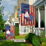 American Rooster Personalized Flag BIF21060102