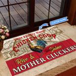 Chicken Coop-Rise & Shine Personalized Doormat TRJ21060301