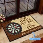 Darts-Come on in Personalized Doormat TRJ21060401
