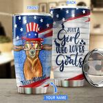 American Goat Personalized Stainless Steel Tumbler BIU21060702