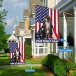 Maine Coon Cat American Cloak Personalized Flag BIF21060803