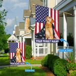 Labrador Retriever American Cloak Personalized Flag BIF21060804