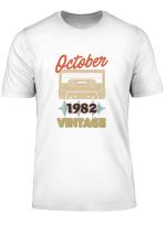 37th Birthday Vintage October 1982 Classic Mixtape Pullover Hoodie T Shirt Sweatshirt