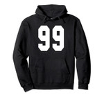 # 99 Team Sports Jersey Front & Back Number Player Fan Pullover Hoodie