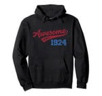 Awesome Since 1924 Old School Baseball 95th Birthday Gift Pullover Hoodie