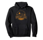 Vintage Kupreanof, Alaska Mountain Hiking Souvenir Print Pullover Hoodie