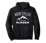 MOUNT STELLER ALASKA Climbing Summit Club Outdoor Gift Pullover Hoodie