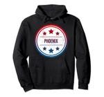 Phoenix - Cool Retro City Badge Pullover Hoodie