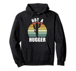 Vintage Retro Sunset Funny Sarcastic Cactus Not A Hugger Pullover Hoodie