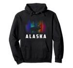 Alaska Reindeer Hoodie with Polar Lights and Moose