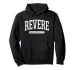 Revere Hoodie Sweatshirt College University Style MASS USA.
