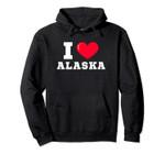 I Heart Alaska Athletic Font Pullover Hoodie