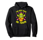 The Best Hugs In Town Succulent Cactus Valentines Love Pullover Hoodie