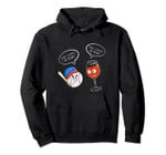 Cool She Loves Me Baseball And Wine Funny Drink Player Gift Pullover Hoodie