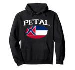 PETAL MS MISSISSIPPI Flag Vintage USA Sports Men Women Pullover Hoodie
