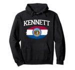 KENNETT MO MISSOURI Flag Vintage USA Sports Men Women Pullover Hoodie