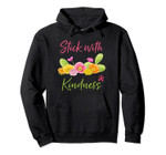 Stick With Kindness Cute Cactus Lover Succulent Lover Gift Pullover Hoodie
