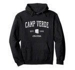 Camp Verde Arizona AZ Vintage Athletic Sports Design Pullover Hoodie