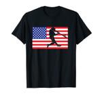 Baseball USA American Flag | Batter Hitter Gift Unisex T-Shirt