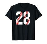 #28 Baseball Laces Baseball Mom Love Baseball gift Unisex T-Shirt