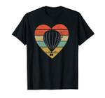 Hot Air Balloon Vintage Design Retro Balloonist Pilot Heart Unisex T-Shirt