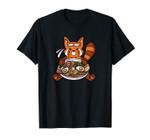 Japanese Anime Kawaii Red Panda Ramen Unisex T-Shirt