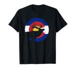 Colorado Elk Hunting Unisex T-Shirt: CO State Flag Hunter Unisex T-Shirt
