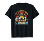 Rocky Mountains Retro Colorado Flag US National Park Gift Unisex T-Shirt