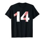 Fourteenth Birthday 14th BASEBALL No. 14 Born in 2005 Unisex T-Shirt