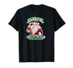 Santa Claus Drinking Beer Stein Mug Xmas Clipart Graphic Unisex T-Shirt