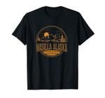 Vintage Wasilla, Alaska Mountain Hiking Souvenir Print Unisex T-Shirt