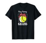 Busy Raising Ballers Softball Funny Baseball Mom Sport Unisex T-Shirt