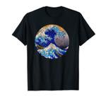 Big Blue Wave Great Wave off Kanagawa Distressed Art Gift Unisex T-Shirt