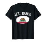 SEAL BEACH CA CALIFORNIA Flag Vintage USA Sports Men Women Unisex T-Shirt