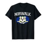 NORWALK CT CONNECTICUT Flag Vintage USA Sports Men Women Unisex T-Shirt