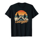 Colorado Tee - Retro Vintage Mountains Nature Hiking Unisex T-Shirt