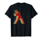 Retro Baseball Player Gift for Baseball Lover Distressed Unisex T-Shirt