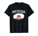 ARTESIA CA CALIFORNIA Flag Vintage USA Sports Men Women Unisex T-Shirt